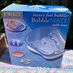 Homedics luxury foot bubbler with heat